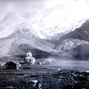 Site de Kédarnath photo du temple en 1882