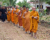 Monks Leading Funeral Procession to Wat