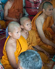 Grandsons of Deceased Woman Have Become Monks for the Three Days of Funeral Ritual