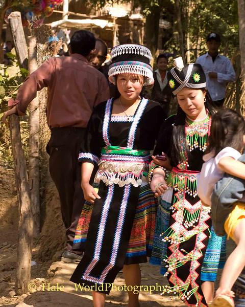Entering the Hmong New Year Festival, Luang Prabang, Laos