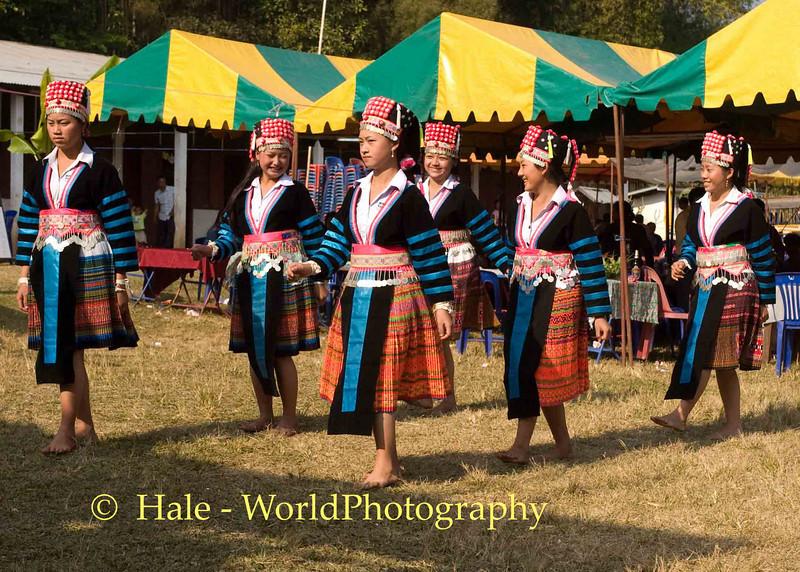 Hmong Dancing at Khmu New Year Festival, Luang Prabang, Laos