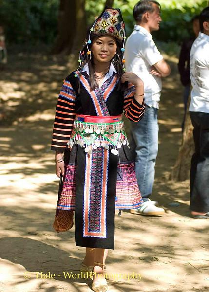 Hmong Women at New Year Festival, Luang Prabang, Laos
