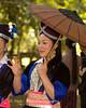Hmong Young Woman Playing Pov Pob, Luang Prabang, Laos
