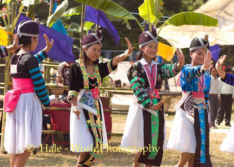 Hmong Festival Dancers, Luang Prabang, Laos