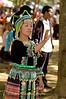 Hmong Women Playing Pov Pob at New Year Festival, Luang Prabang, Laos