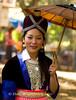 Hmong Maiden with Parasol, Luang Prabang, Laos