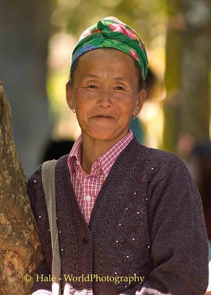 Hmong Matriach at New Year Festival in Luang Prabang, Laos