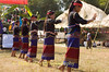 Khmu Line Dancing at New Year Festival in Luang Prabang, Laos