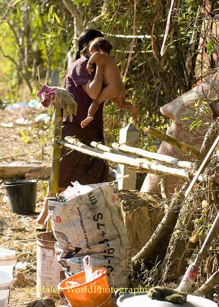 Bath Time at the Festival, Luang Prabang, Laos