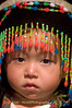 Hmong Toddler Dressed Up for New Year Festival, Luang Prabang, Laos