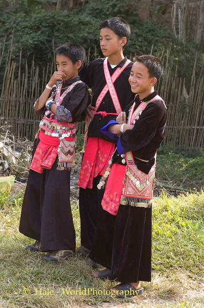Checking Out The Girls at Khmu New Year Festival in Pack Paid Village, Laos