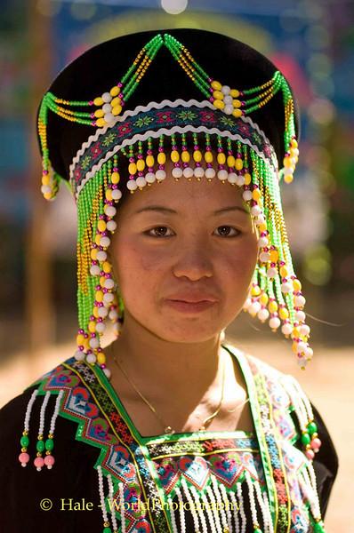 Hmong Woman at New Year Festival, Luang Prabang, Laos
