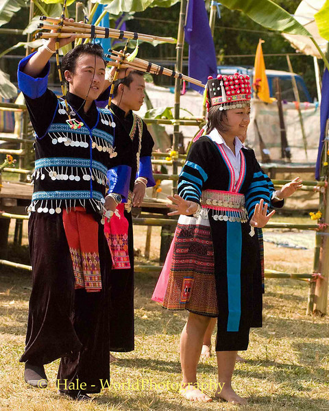 Hmong Young People Dancing, Luang Prabang, Laos