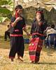 Young Man and Woman Dancing at Khmu New Year Festival In Luang Prabang, Laos