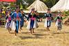 Hmong Young Women Dancing, Luang Prabang, Laos