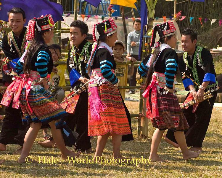 Youth Dancers at Khmu New Year Festival in Luang Prabang, Laos