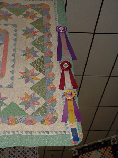 Ribbons top to bottom: Best of Show - Best of Division - Best of Class - 1st Place