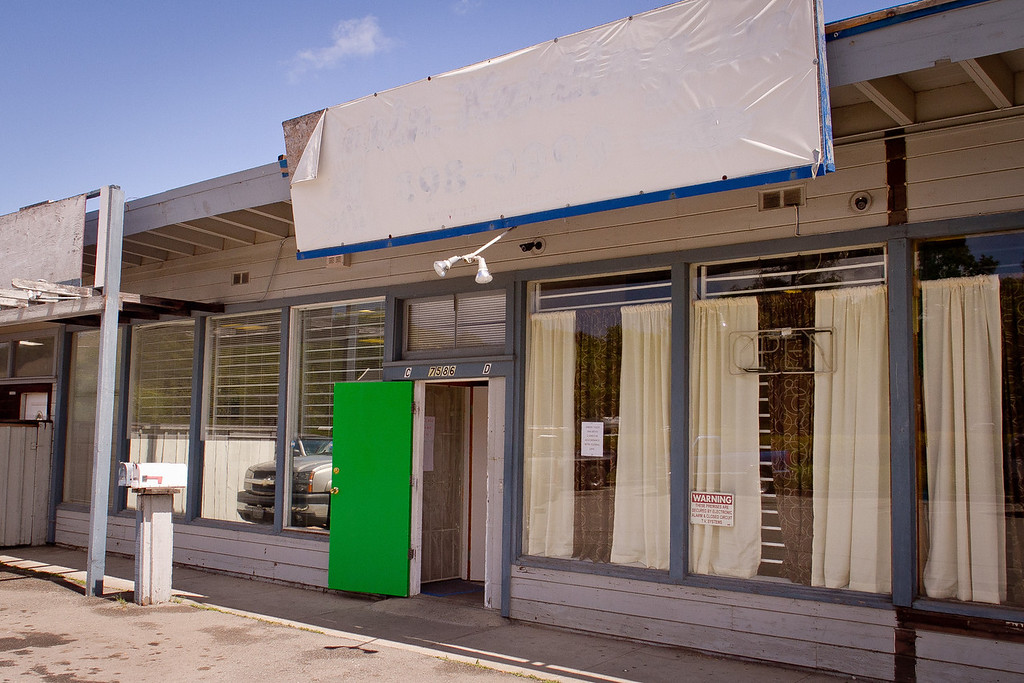 The Green Door Wellness Education Center next to the closed Green Tiger Marijuana dispensary in Novato, Calif. on April 26th, 2012.