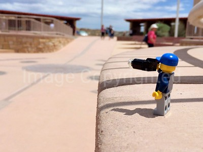 Lego photographer - 4 corners monument - Utah, Arizona, New Mexico, and Colorado