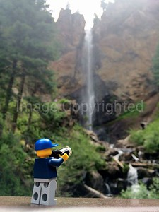 Lego Photographer - Treasure falls in Colorado