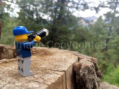 Lego photographer - scenic view at Treasure falls