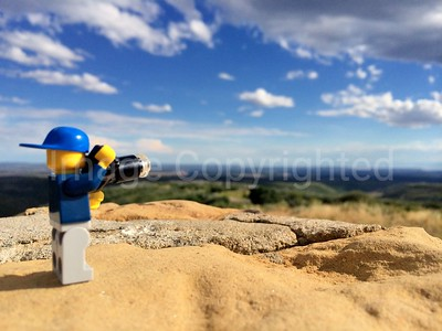 Lego photographer - park point view at Mesa verde