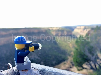 Lego photographer - scenic view at Mesa Verde