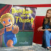 Mia Charpentier authored of Boom Boom Went the Thunder talks about it t her office in Leominster on Tuesday afternoon. SENTINEL & ENTERPRISE/JOHN LOVE