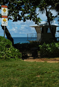 Ehukai Beach Lifeguard Station North Shore of O'ahu, Hawai'i