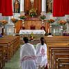 Devote Worshipers Walking On Their Knees