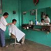 Barber shop in Mexico