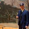 Vintage train conductor