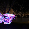 LED hoop portraits and light painting with Taylor and Natasha.