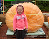 2018.10.13<br> While we did briefly see the new north american record pumpkin (2,528 lbs), it left before we had a chance to get Liliana's picture with it since she wanted her second sweatshirt.  This pumpkin was still a bit bigger than her though and worked for a photo
