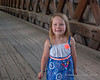 2018.06.16<br> Liliana on the Henniker Covered Bridge while out exploring with me