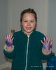 "2020.02.01<br> Liliana did her own makeup today and added ""a bit"" of body glitter to her hands"