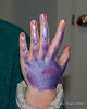 2020.02.01<br> Body glitter on Liliana's hand after doing her own makeup