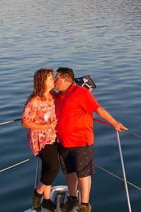 Linda and I on the Great Salt Lake!