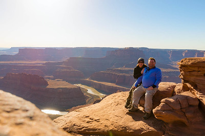 Linda and I at Dead Horse Point