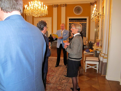 Lions Club Cahors and Lions Club Copenhagen visiting the patron of Lions Denmark, Prince Henrik at Amalienborg Castle