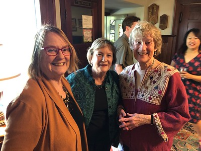 L-R:  Glen's daughters Karen and Susie with Liz.