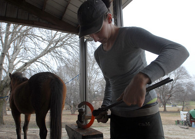 Local Farrier works from home
