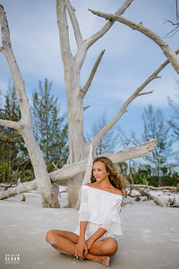 Longboat Key High School Senior Beach Portraits