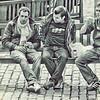 Three Men on a bench