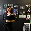 Photographer Kristen Higgins, 25, of Marlboro, at the studio she just opened at Western Avenue Studios. Her business is K.H Photography. [no period after the H]  (SUN/Julia Malakie)