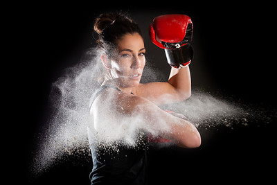 Martial Artists Girl Powder Punch Glove