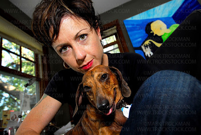 Author Marya Hornbacher and Milton in her Office • Mouse House • Minneapolis, Minn. • 2008