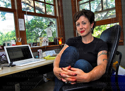 Author Marya Hornbacher in her Office • Mouse House • Minneapolis, Minn. • 2008