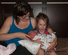 Liliana gets to hold Madison for the first time
