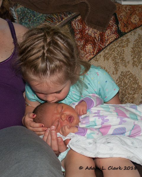 Giving Madison one of many kisses to come